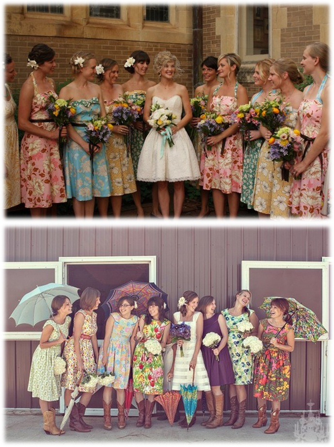floral bridesmaid dresses Archives - Silver SixpenceSilver ...