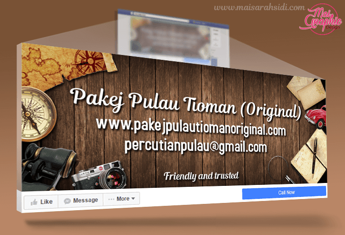 cover photo fb, pakej pulau tioman