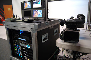 Portable webcasting mobile production racks