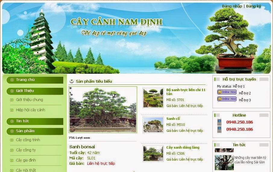 thiết kế website cây cảnh giá rẻ