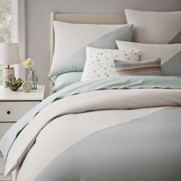 West Elm x Kate Spade Saturday Chambray Diagonal Duvet Cover + Shams