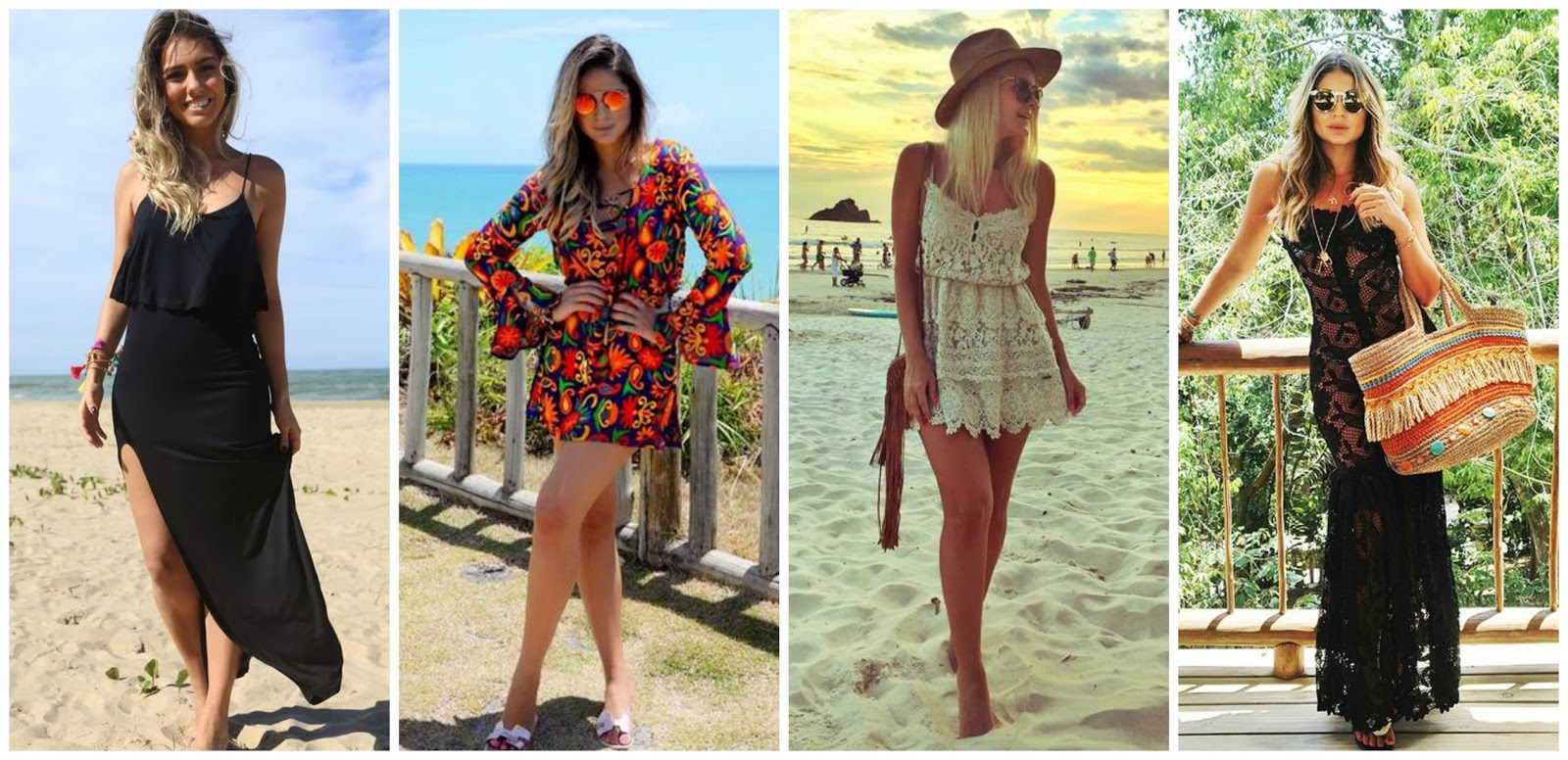 1d60ed004f20 Vestido é algo que também tem cara de verão, então, é mais que liberado usar  vestido como saída de praia! Nesse caso, é melhor optar por tecidos leves e  ...