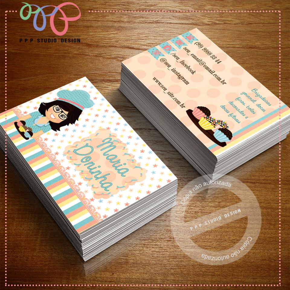 Conhecido PPP Studio Design: Cartão de Visita - Doceria 6 EC74