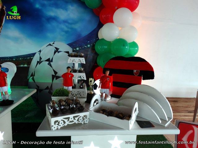 Decoração de aniversário tema Futebol - Mesa temática de festa