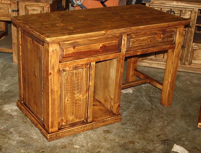 best buy rustic pine home office furniture desk for sale