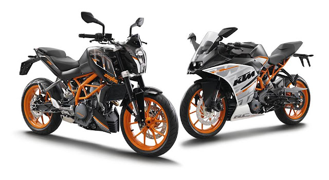 KTM RC250 Dan KTM Duke250 2015