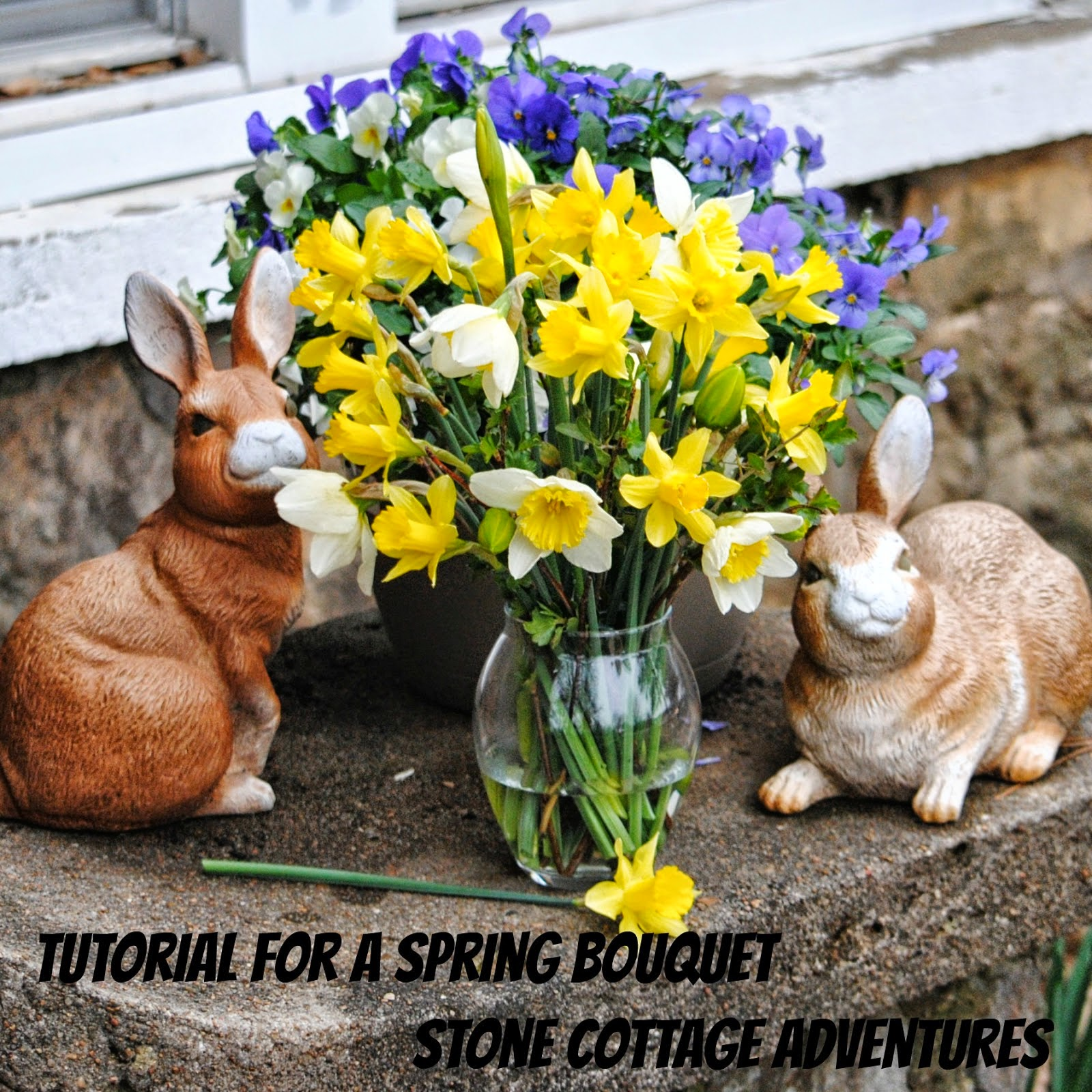 Spring Bouquet Tutorial, shared by Stone Cottage Adventures