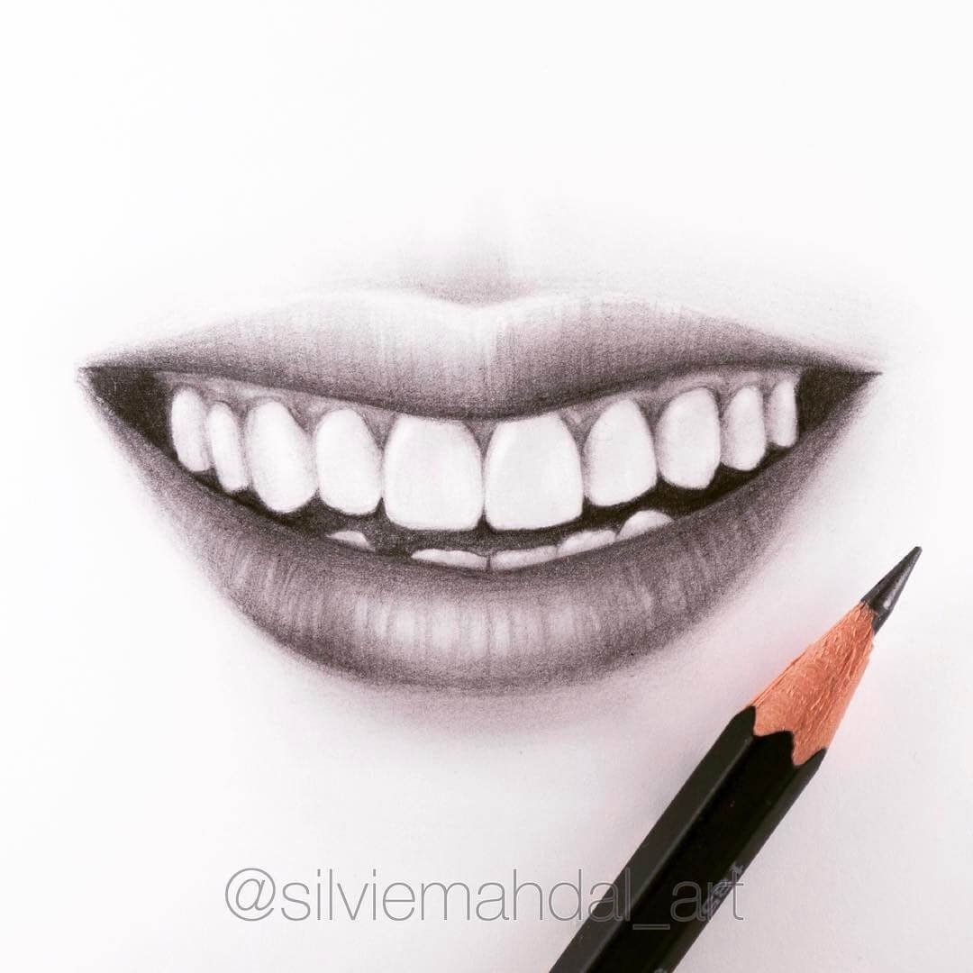 09-Lips-and-Teeth-Silvie-Mahdal-Realistic-Anatomical-Detailed-Portraits-www-designstack-co
