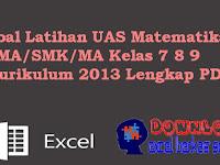 Soal Latihan UAS Matematika SMA/SMK/MA Kelas 7 8 9 Kurikulum 2013 Lengkap PDF