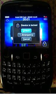 Cara mudah dan tidak sulit mengatasi lupa paswword pada layar ponsel blackberry anda