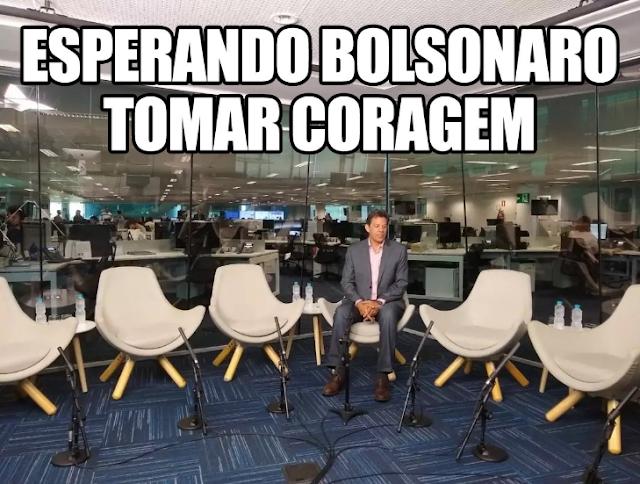 Debate na Globo seria com Bolsonaro e Haddad sentados