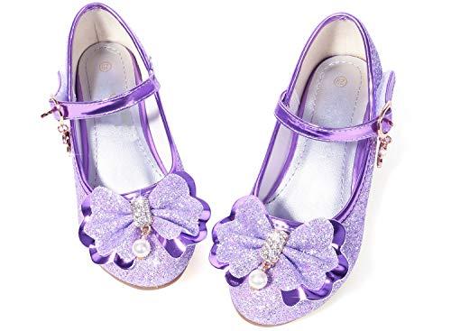 b05732e4ab7c7 #shoes #girls Glitter Girls Princess Shoes Size 9 Cosplay Flower Toddler  Girl High Heel Shoes Purple ...