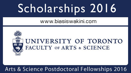 Arts And Science Postdoctoral Fellowship Program 2016