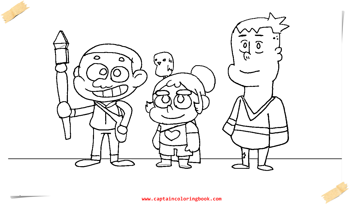 Craig Of The Creek Coloring Page Printable Coloring Page