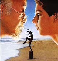 Fragmento del cartel de la película de 1984: Karate Kid