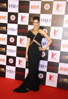Deepika Padukone in Sexy Black Gown