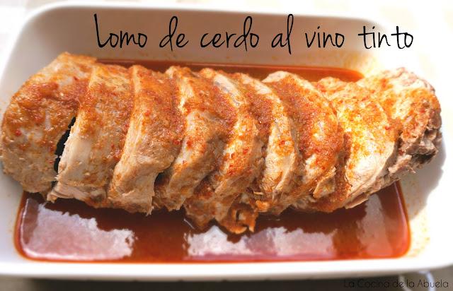 Lomo cerdo vino tinto receta guisado