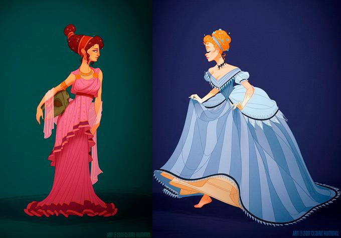 disney character real history dress реальны фасоны платьев персонажей Дисней