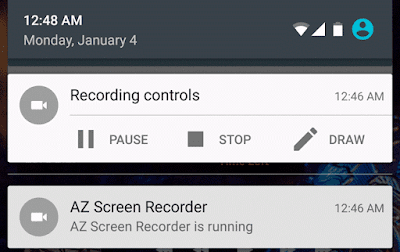 AZ Screen Recorder Controls