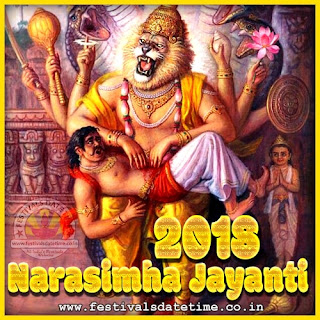 2018 Narasimha Jayanti Date & Time in India