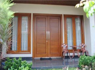 Contoh Motif Desain Model gambar kusen kayu pintu / jendela rumah minimalis paling  bagus.