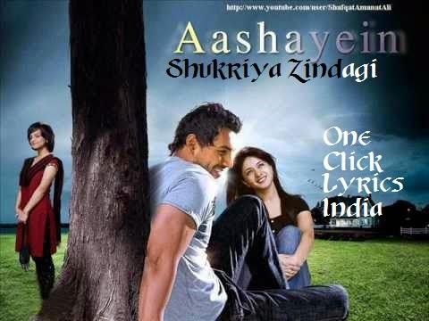 Shukriya Zindagi Song Lyrics