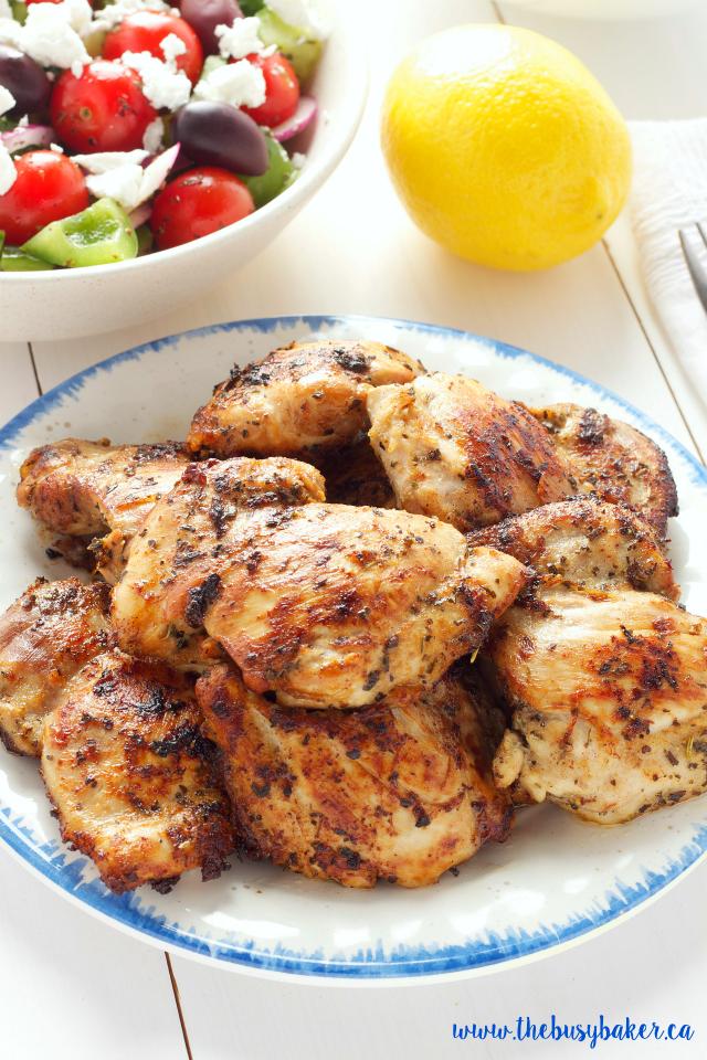 Easy Greek Chicken Souvlaki The Busy Baker