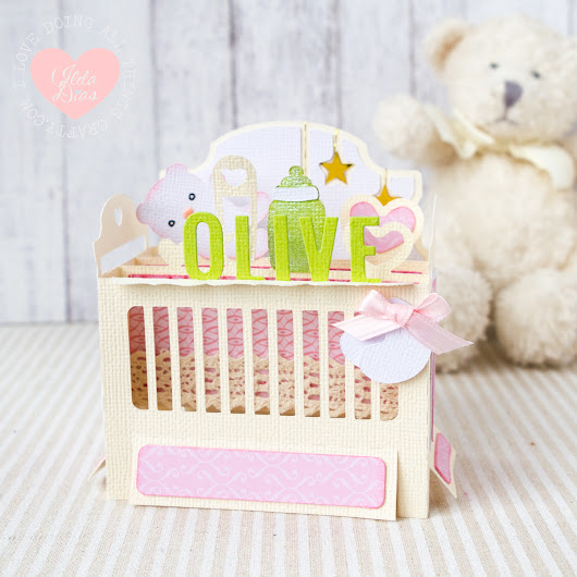 Baby Crib Box Card for Olive