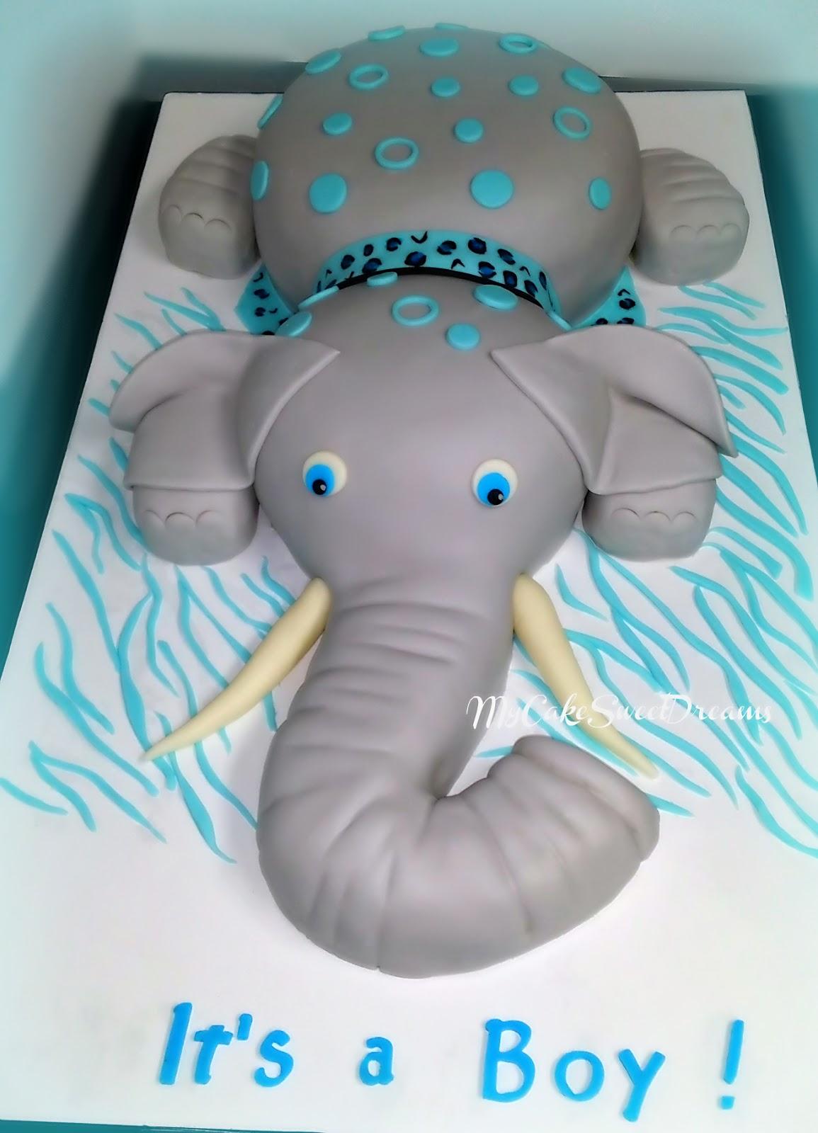 My Cake Sweet Dreams Elephant Baby Shower Cake