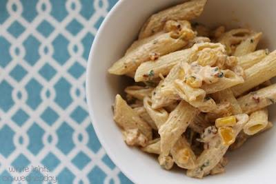 White Lights on Wednesday: Chipotle & Roasted Corn Pasta Salad
