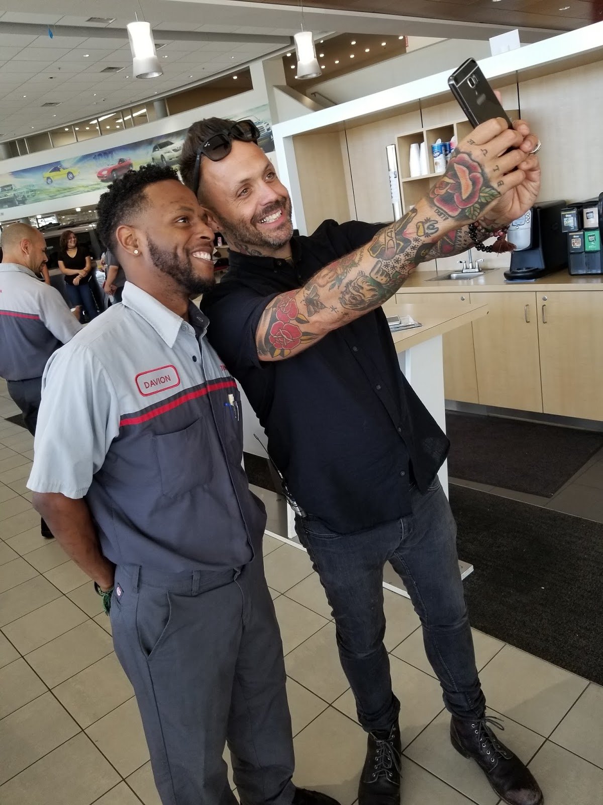 justin furstenfeld and don mcgill toyota give away car to local
