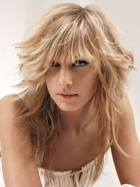Layered Long Hairstyles With Bangs Ideas