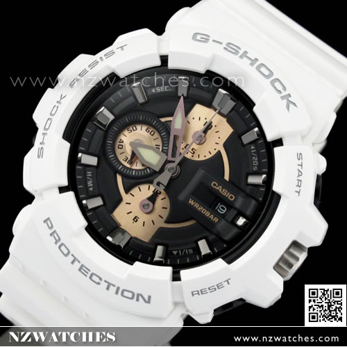 Casio G-Shock Screw Lock Crown Rose Gold Chronograph Watch GAC-100RG-7  GAC100RG 3ed16b220db2
