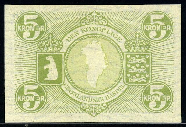 world paper money Greenland krone banknotes