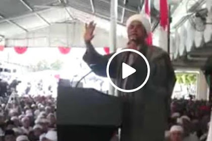 Umat Islam Dipojokkan! Al Habib Musthafa Alaydrus: Kalau 2019 Tidak Ganti Presiden, Berarti Kalian Mental Tempe!
