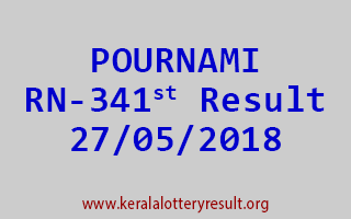 POURNAMI Lottery RN 341 Result 27-05-2018
