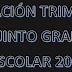 PLANEACION PRIMER TRIMESTRE 5° PRIMARIA CICLO ESCOLAR 2018-2019