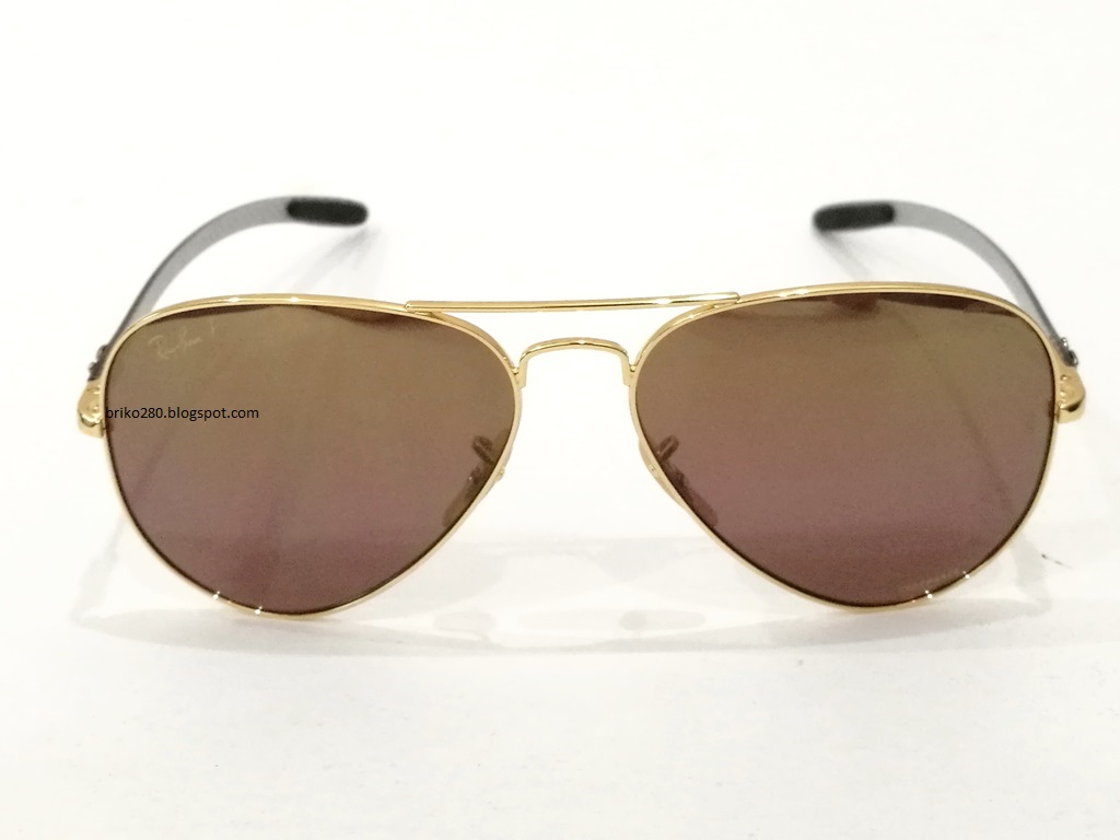 ef60b710cc2 RayBan RB-8317 Chromance Series Gold frame with Polarized Purple Mirror  Chromance lense. RB-8317CH 001 6B Size 58-14-140