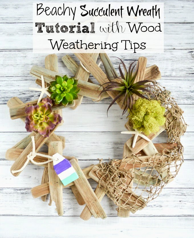 beachy driftwood wreath