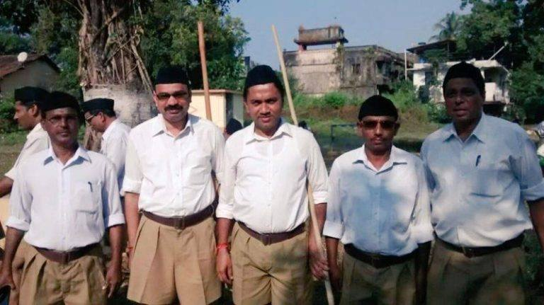 Pramod Sawant in Uniform of RSS
