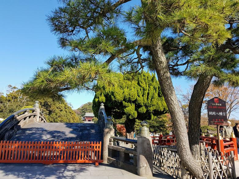 鶴岡八幡宮外的太鼓橋 (Taiko-bashi)