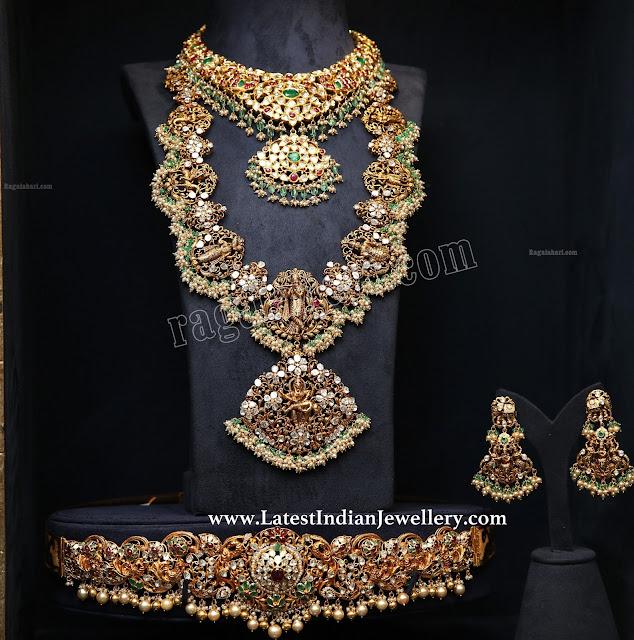 PMJ Dasavataram Necklace Vaddanam Set