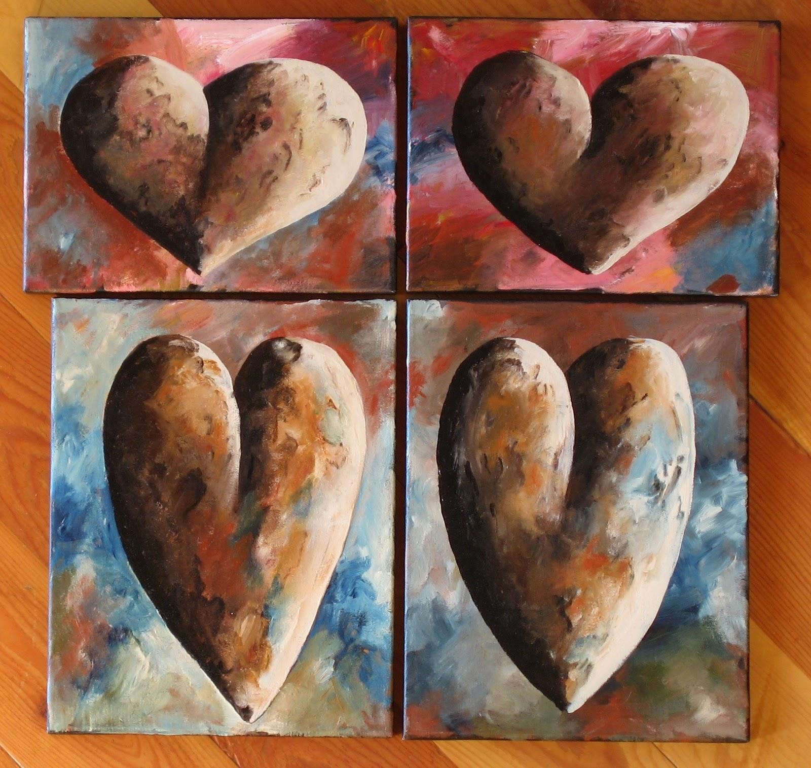artist pamela hunt lee hearts made of stone. Black Bedroom Furniture Sets. Home Design Ideas