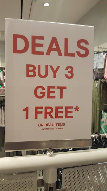 H&M Malaysia Buy 3 Free 1 Promo