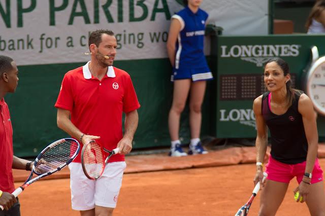 Michael Llodra - Christine Arron tennis roland-garros