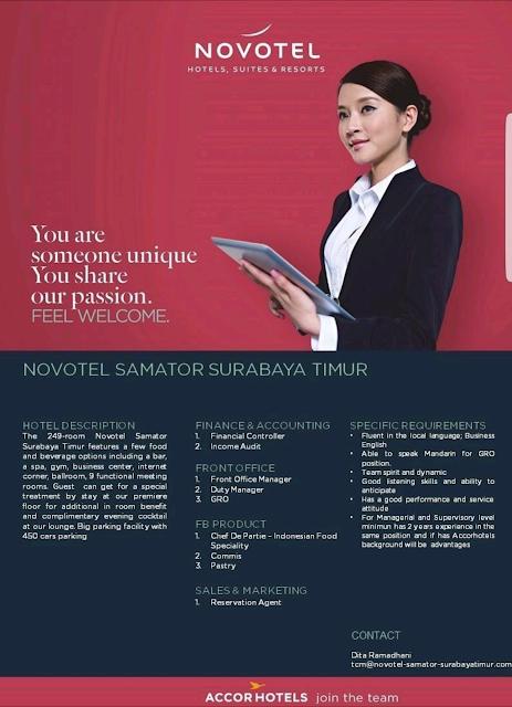 lowongan kerja hotel, hotel vacancy, hotel Jobs