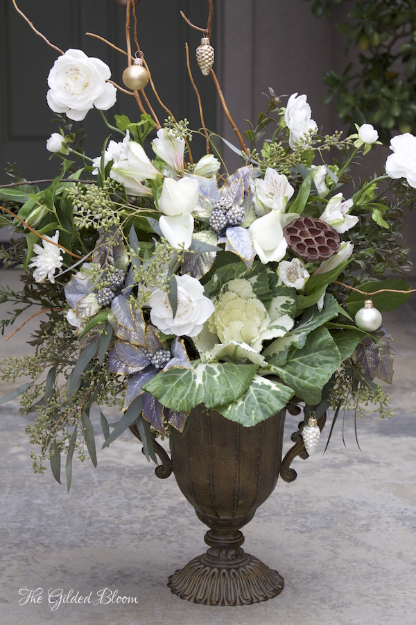 Floral Styling for the Holidays- www.gildedbloom.com