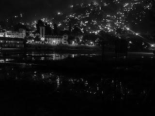night view at nainital