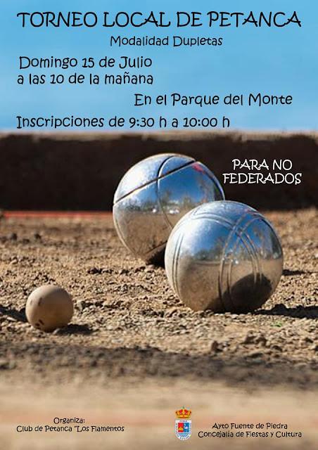 Deportes y concursos previos a la Feria de Fuente de Piedra