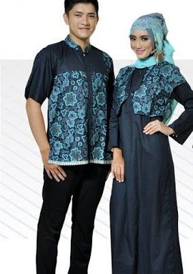 baju batik muslim couple